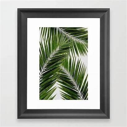 Leaf Palm Framed Iii Prints Society6 Artwork