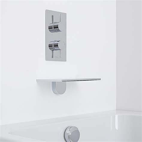 Wall Mounted Bath Filler And Shower by Wall Mounted Waterfall Bath Filler