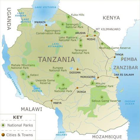 map  tanzania africa travel africa