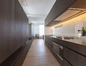 kitchen with bench by belgian architect