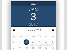 jQuery UI Datepicker with Material Design jQuery Plugins
