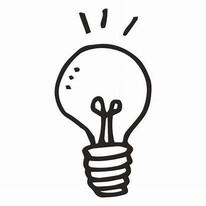 Bulb Transparent Idea Svg Clipart Background Drawing