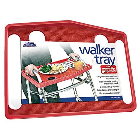 walker trays walkers tray seniors amazon grip mat slip non