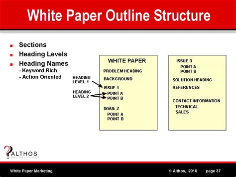 White Paper Outline Template by White Paper Marketing White Paper Outline
