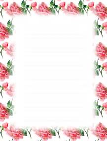 Free Printable Lined Stationery Floral