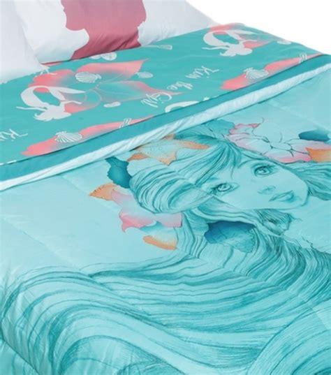 the little mermaid ariel sketch full queen comforter 4