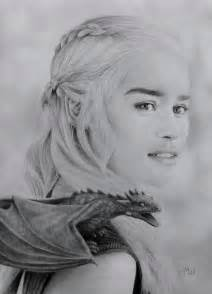 Pencil Drawing Daenerys Targaryen