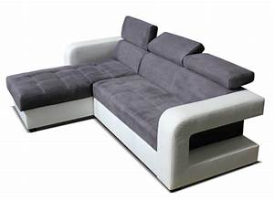 Canape D39angle Convertible Reversible Dave Blancmicro Grise