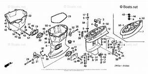 Honda Outboard Parts By Hp  U0026 Serial Range 50hp Oem Parts Diagram For Extension Case