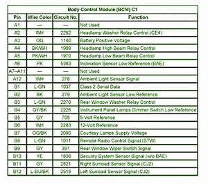 2007 Gmc Envoy V6 Body Control Module C1 Fuse Box Diagram