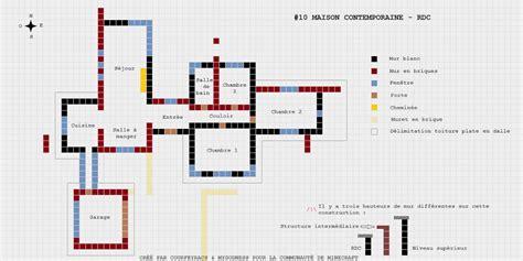 plan minecraft maison moderne l impression 3d
