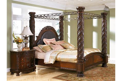 north shore king canopy bed ashley furniture homestore