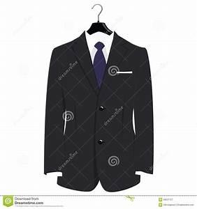 Suit On Hanger Stock Illustration - Image: 58531727