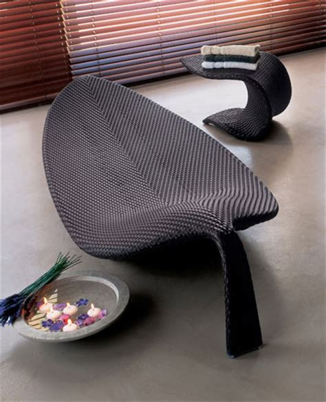 outdoor wicker chaise lounge leaf  dedon digsdigs