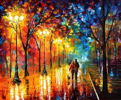 Leonid Afremov, Oil On Canvas, Palette Knife, Buy Original
