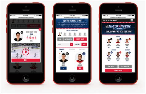 Nhl Mobile by Linequality Creative Work Of Paul Riehle Nhl All