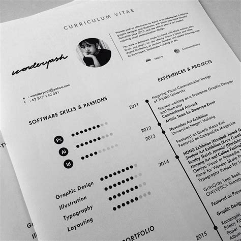 Curriculum Vitae Layout Template by Curriculum Vitae Template Available For On Behance