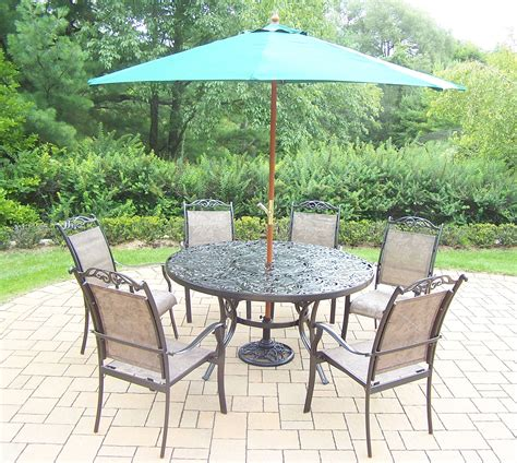 Kmart Patio Table Umbrellas by Oakland Living Aluminum Patio Dining Set W 60