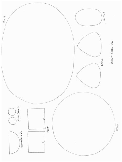 Pig Template For Preschoolers by Pig Crafts Animals Crafts Print Your Pig Craft