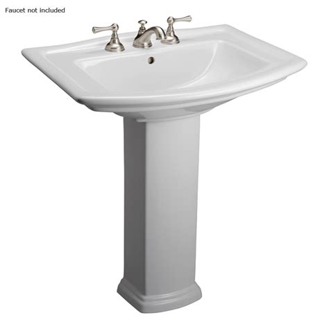 barclay pedestal sink washington shop barclay washington 32 75 in h white vitreous china