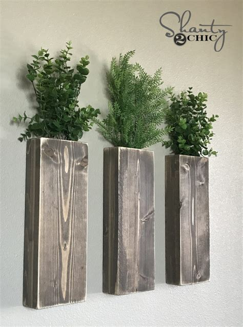 diy modern farmhouse wall planters shanty  chic