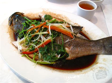cuisine free free steamed fish photo seafood carp dish picture