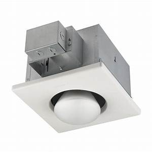 Broan white bathroom heater and light at lowes