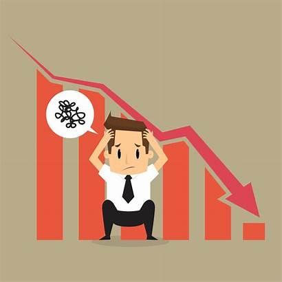 Worried Market Cartoon Crash Loss Chart Declining