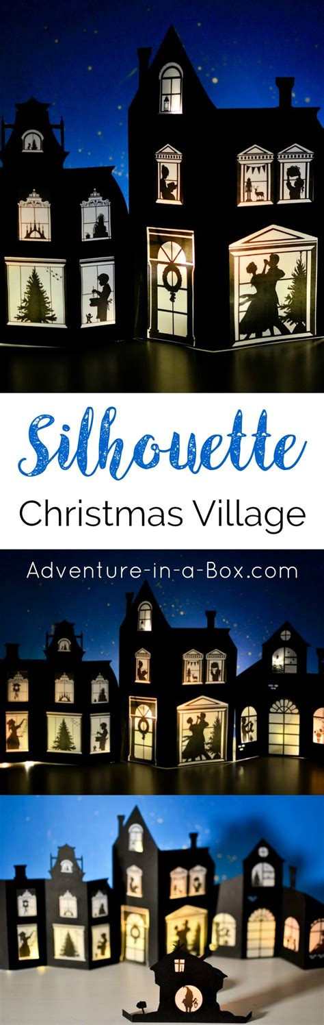 christmas village trees silhouette template silhouette christmas village with printable designs