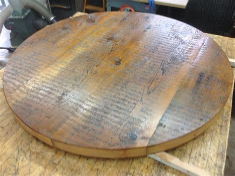 """Country Rustic Reclaimed Barn Wood 40"""" Round Tabletop  Ebay"""