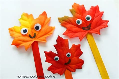 how to make a fall leaf family simple leaf craft for 668 | fall crafts for kids