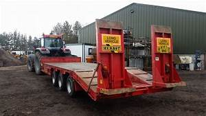 Herbst 3 Axle Tractor Drawn Low Loader Trailer