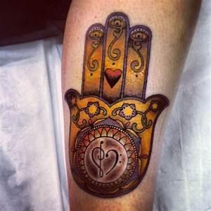 Hamsa tattoo fatimah leg piece | Tattoo ideas | Pinterest ...