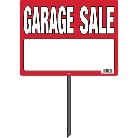 garage signs home depot hy ko 22 in x 13 in plastic garage with stake 22302