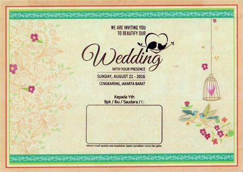 contoh undangan pernikahan islami   desain