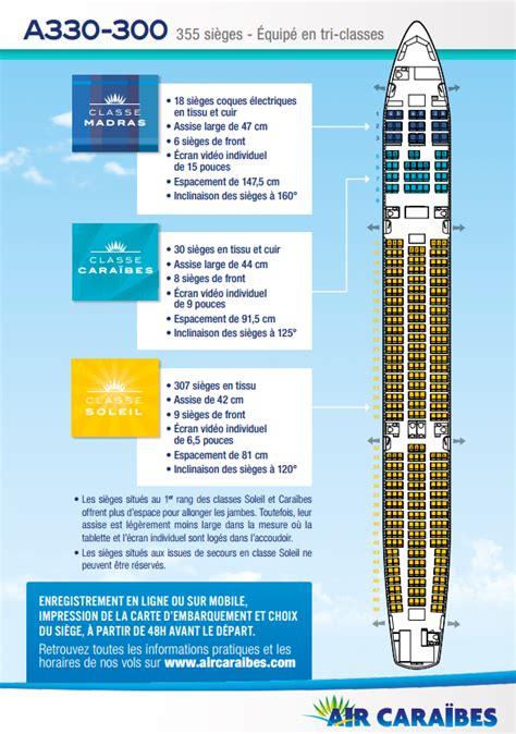reservation siege jetair plan cabine de notre airbus a330 300 air caraïbes