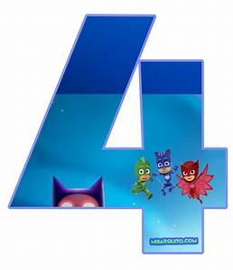Números de PJ Masks para descargar e imprimir Mi Barquito