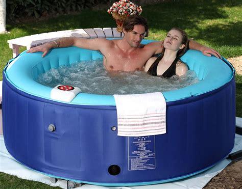 4 Person New Family Aqua Spa Portable Bubble Jet Blue