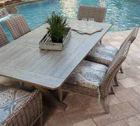faux wood patio furniture ebel all weather woven wicker furniture