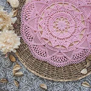 Instant Download Pattern For Textured Crochet Doily With