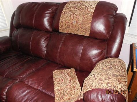 leather sofa headrest covers custom made chair headrest arm covers available www