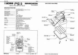 Roland Ps3 Ps-3 Boss Bossps3 Boss-ps3