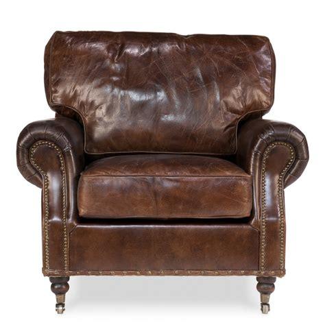 vintage club chair vintage loft genuine leather club casters chesterfield 3172