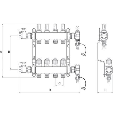 manifolds stainless steel underfloor heating radical heating