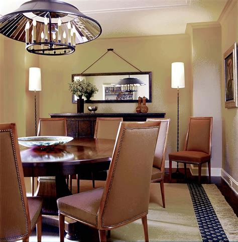 hanging floor lamp Dining Room Contemporary with circle
