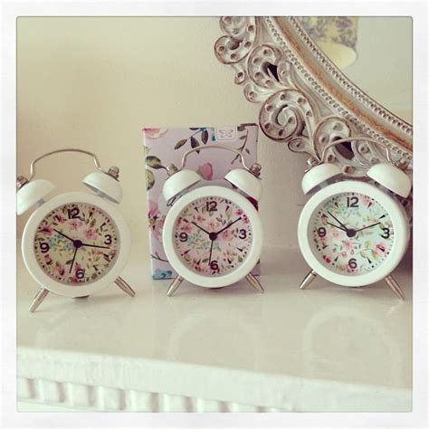 shabby chic alarm clock little shabby chic white floral alarm clock