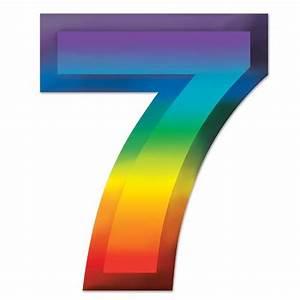 Multicoloured Plastic 3D Number Quot7quot 11quot Party Packs