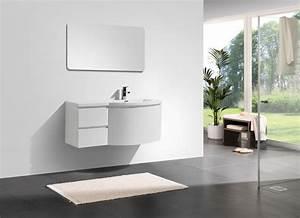 ensemble meubles salle bain couleur blanc bernstein la With meubles de salle de bain forme arrondie