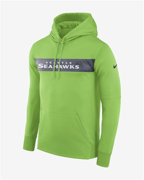 nike dri fit therma nfl seahawks mens pullover hoodie