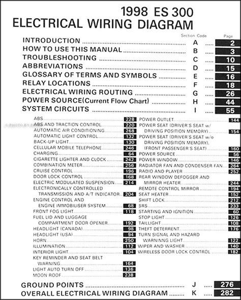 lexus es  wiring diagram manual original
